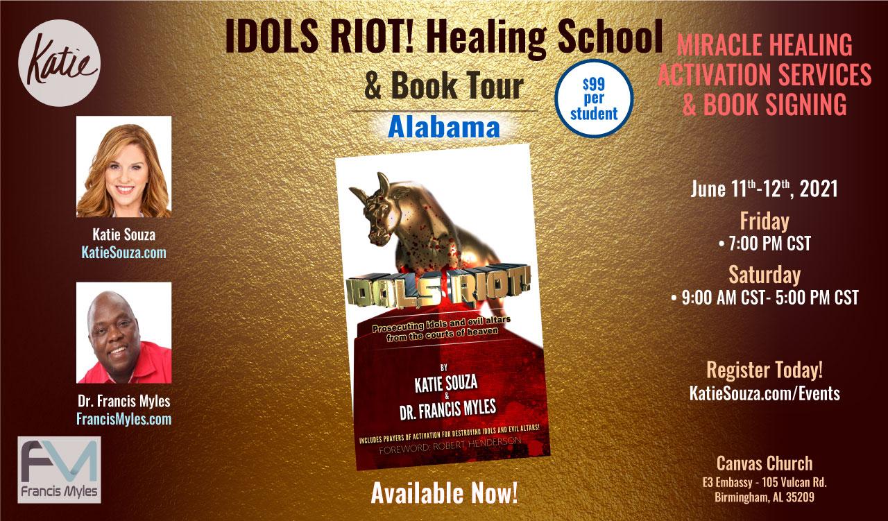 Idols Riot! Healing School & Book Tour Alabama